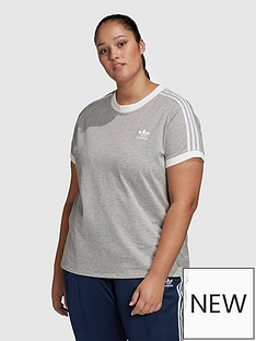 adidas-originals-3-stripe-tee-medium-grey-heather