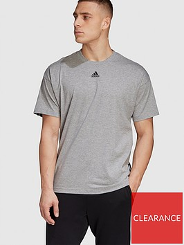 adidas-3-stripe-t-shirt-medium-grey-heathernbsp