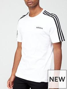adidas-essential-3-stripe-t-shirt-white