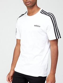 adidas-essential-3-stripe-t-shirt-white