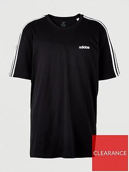 adidas-plus-size-essential-3-stripe-t-shirt-blacknbsp