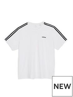 adidas-essentialsnbsp3-stripe-t-shirt-whitenbsp