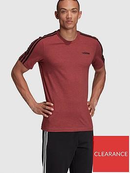 adidas-essentialnbsp-3-stripe-t-shirt-rednbsp