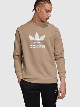 adidas-originals-trefoil-crew-khaki