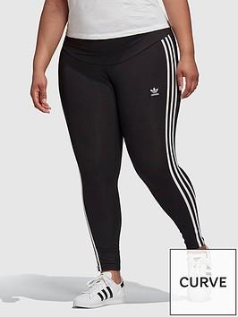 adidas-originals-3-stripes-plus-size-leggings-black