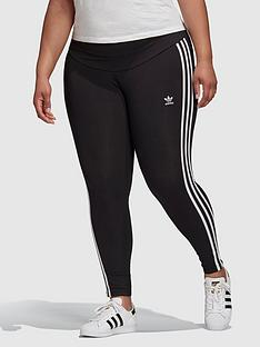 adidas-originals-3-stripes-plus-size-tight-black