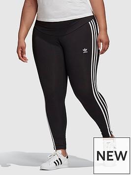 adidas-originals-3-stripes-plus-size-tight-black