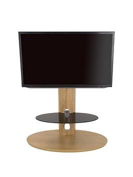 Product photograph showing Avf Chepstow Combi 930 Tv Unit- Oak Black Glass - Fits Up To 65 Inch Tv
