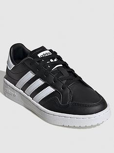 adidas-originals-team-court-childrens-trainers-blackwhite