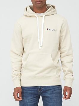 champion-small-logo-overhead-hoodie-beigenbsp