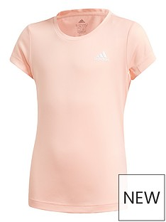 adidas-junior-girlsnbsptraining-aero-t-shirt-coral