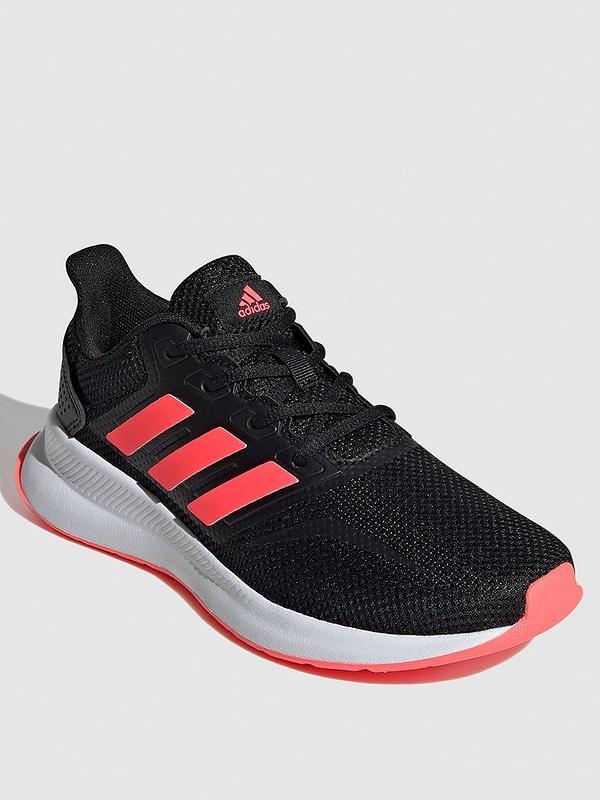adidas Runfalcon Kids Trainers - Black/Pink   very.co.uk