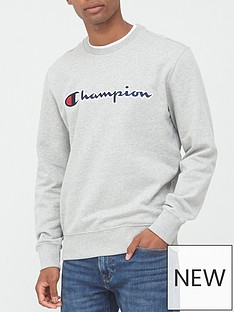 champion-crew-neck-sweatshirt-grey-marl