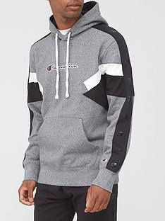 champion-colour-block-overhead-hoodie-greyblack