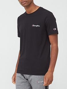 champion-small-logo-t-shirt-black