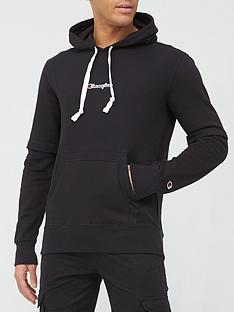 champion-double-layer-overhead-hoodie-black