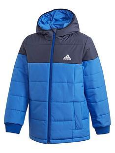 adidas-childrensnbsppadded-zip-through-jacket-blue