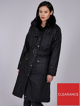 barbour-international-wipeout-oversized-belted-wax-coat-black