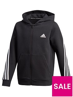 adidas-boysnbsp3-stripes-full-zip-hoodie-black