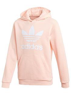 adidas-originals-childrensnbsptrefoil-hoodie-coral