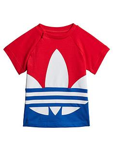 adidas-originals-infantsnbspbig-trefoil-t-shirt-red