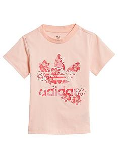 adidas-originals-childrensnbsptrefoil-t-shirt-coral