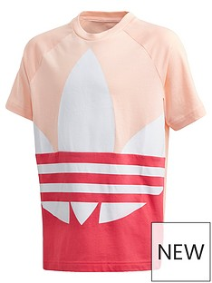 adidas-originals-childrensnbspbig-trefoil-t-shirt-coral