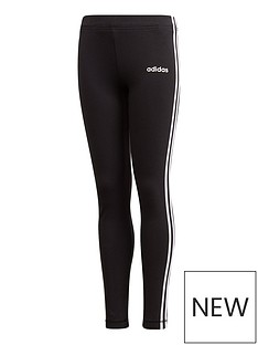 adidas-girls-3-stripes-tight-black