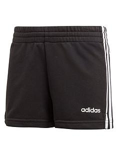 adidas-girls-3-stripes-shorts-black