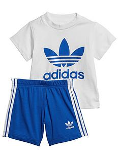 adidas-originals-infantsnbspshort-t-shirt-set-whiteblue