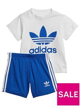 adidas-originals-infantsnbspshort-t-shirt-set-whiteblue