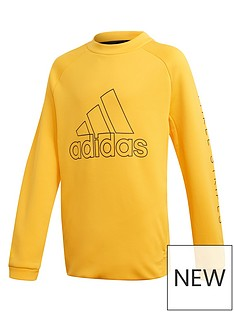 adidas-boys-training-sweat-crew-yellow