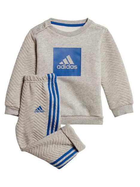 adidas-infant-3-stripe-logo-jog-set-grey