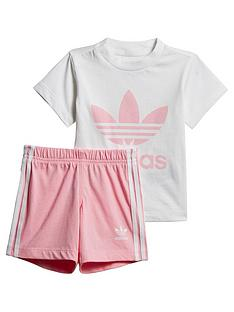 adidas-originals-shorts-and-t-shirtnbspset-whitepink