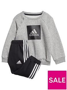 adidas-infants-threenbspstripe-logo-sweat-andnbspjogger-grey-heather