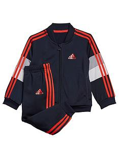 adidas-infants-shiny-tracksuit-navy
