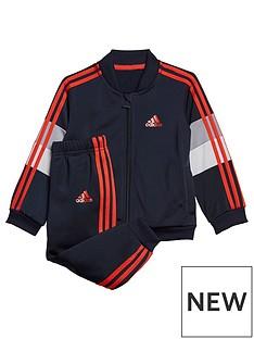 adidas-infants-shiny-tracksuit-navy
