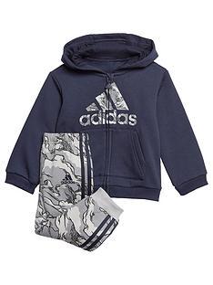 adidas-infants-logo-full-zip-fleece-hood-andnbspjoggers-set-navynbsp