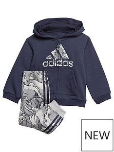 adidas-infants-logo-full-zip-fleece-hood-andnbspjoggers-set-navynbsp