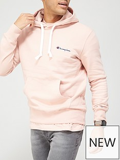 champion-small-logo-overhead-hoodie-pink