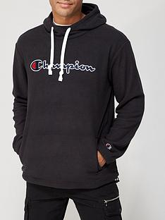 champion-mensnbsppolar-fleece-overhead-hoodie-black