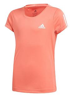 adidas-girls-training-t-shirt-red