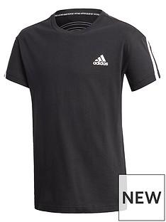 adidas-boys-3-stripes-t-shirt-black