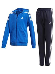 adidas-junior-boys-cotton-tracksuit-blue