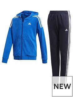 adidas-junior-boys-cotton-tracksuit-blue