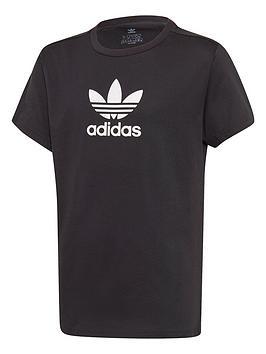adidas-originals-girls-trefoil-tee-black
