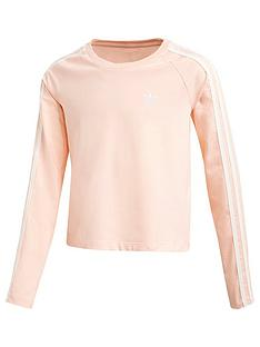adidas-originals-3-stripes-crop-long-sleeve-coral