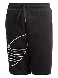 adidas-originals-childrensnbspbig-trefoilnbspshorts-black