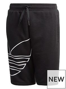 adidas-originals-childrensnbspbig-trefoilnbspshorts-black
