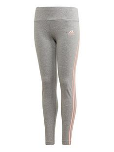 adidas-girls-3-stripes-tight-grey-heather